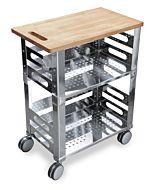 P.U.B. Kitchen trolley - Carrello con tagliere in legno