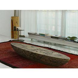 POH panca o tavolino in patchwork di legno