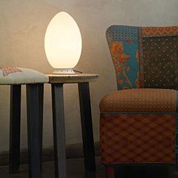 Uovo lampada da tavolo Ø cm 18