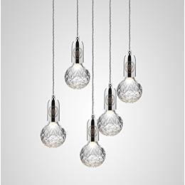 Crystal Bulb Chandelier lampada a sospensione